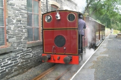 Trefor heads north with No. 7 on the first train …