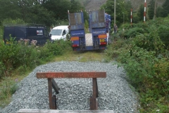 A little later, Richard arrives with a heavy duty plant trailer ...