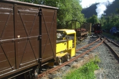 At the end of the day, loco Nos. 9 and 7 shunt stock around in anticipation of the arrival of more items next week ...