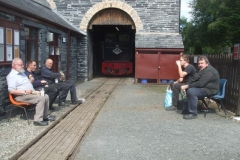 ... and it is time for lunch with Corris and Talyllyn staff ...