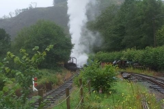 ... so that No 7 becomes lost in steam on the start on Maespoeth Bank!