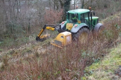 Southern Extension Works. Pont y Goedwig Deviation Project. Tuesday, 28.1.2020. We need to clear scrub prior to receiving any material for filling the embankment, so advantage was taken …