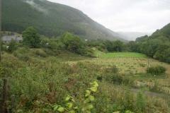 …and it is raining heavily nearer Aberllefenni!