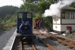 After operating a diesel service yesterday, it is steam today …