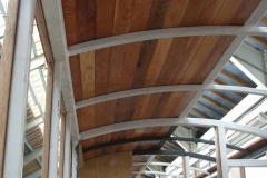 … one side of the carriage roof has been finish boarded …