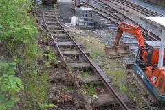 …and the mini excavator brought up to clear fallen spoil between the Signal Box and the fuelling area.