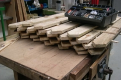 … while others have been cut ready and are stacked to dry out before receiving similar treatment in due course.