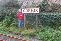 "… while in Corris, Chris removes the ""Corris"" board to receive some winter TLC."