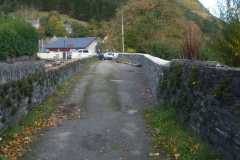 Corris Station Project. Tuesday, 16.10.2018. The school wall has been finished and the site cleared – quickly occupied by Scottish Power, as they change poles in the village …
