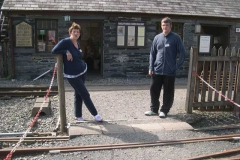 …and a very welcome sight of Janet and Paul who have come up from the Carriage Shed for a break …