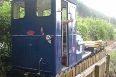 Sunday, 3.8.14. A deep rumbling is heard in the Signal Box – just Trefor collecting the waggon from the Upper Corris branch siding!