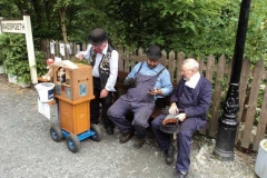 Organ grinder and 2 monkeys!