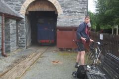 Sunday, 2.8.2020. Ben arrives after a healthy 25 mile bike ride …