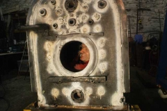 …and after a day's work in the firebox, Trefor's face is still pristine!