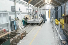 In the Carriage Shed, rolling stock was moved up to create space for the reception area for visitors to our bearded friend in a couple of week's time …