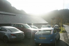 Tuesday, 2.12.14. Wow! The car park at Maespoeth was full this morning – and two more cars arrived later!