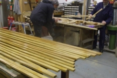 … varnishing seat laths …