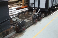 Elsewhere in the Carriage Shed, two more bogies have been assembled for the carriages on the newly completed wheelsets …