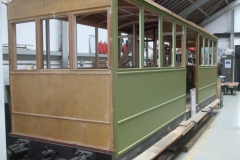 Earlier in the day, Dave had been rubbing down and painting another coat of primer to carriage No. 23.