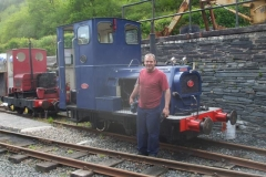 Trefor is pleased as punch to have the loco back in service!