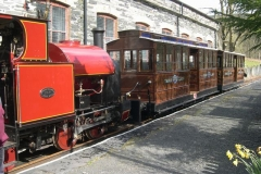 … and the train looks good as it is readied early for the Comedy Festival Special …