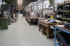 A couple of hours later, all is cleared away and the workshop is restored for work to continue …