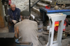 Andy discusses machining the bolsters for the bogies of carriages Nos. 23 & 24 with Steve …