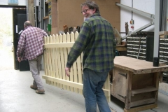Charles and Neil take a fence …
