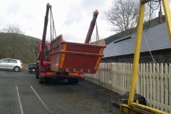 Friday, 29.4.2016. A skip is delivered for a clear-up …