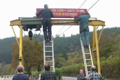 … and afterwards, asks how many people it takes to put up a sign board!