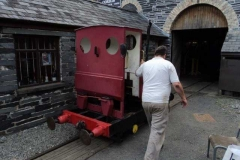 Pat takes his loco for a walk..