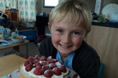 While Dad & Kate have been working all day Jack has been busy too with a fantastic cake for tea.