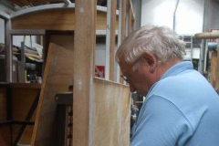 In the Carriage Shed, Graham works with …