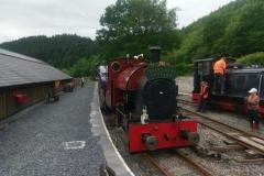 The steam loco is prepared...