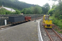 ..then embarks on it's first excursion to Corris Station.