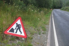 … and with the prospect of more to follow, the road signs were set out.