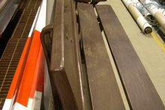 … and the platform benches lined up and prepared for re-painting.