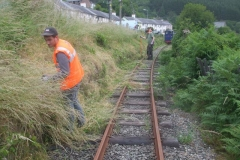 … before heading up to Corris to work on the lineside vegetation …