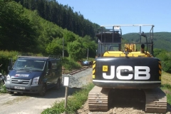 Afternoon drinks break. Richard Evans' new B I G  JCB – as every Welsh child knows – is a Jac Codi Baw (Jack Lifts Earth)!