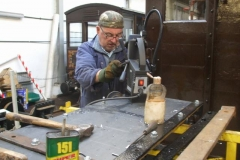 Meanwhile, Adrian has been drilling holes to form one side of the new replica Heritage open waggon body …