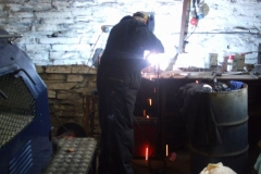 Tuesday, 5.11.2019. Bob welds up modifications to the buffer bands for the Heritage waggon …