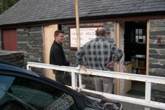 Meanwhile in Corris, Darren has been replacing doors and frames to the Museum …