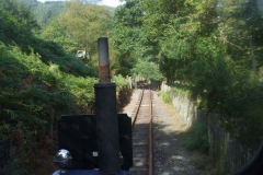 A Driver's eye view of the approach to Corris from No. 6.