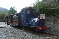 It is not often that No. 6 heads the passenger train in Corris!