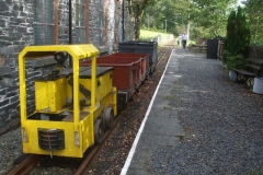 … as Bill opens up the Block Section after the Heritage waggons have been brought up to Maespoeth's North Platform by No. 9.
