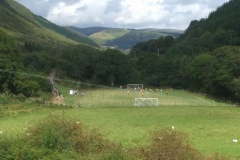 Meanwhile, there is a good crowd to watch the first home game of the re-formed Corris United Football team (as seen from the train). Pity it ended in a brawl (the Away team have been reported to the League)!
