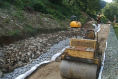 … to enable the next stone layer to be laid before the weather breaks – again!