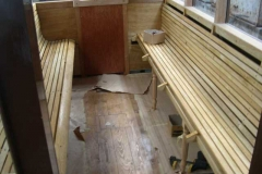…and the second seat is well on its way to completion.