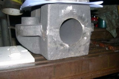 In the Engine Shed, a cast axlebox has been delivered for machining for No. 23 – or 24!