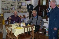 Mike, Otto and Roger chat over a cuppa …